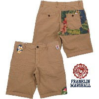 "【SALE】30%OFF★FRANKLIN&MARSHALL/フランクリンアンドマーシャルMEN'S SKINNY FIT BERMUDA SHORTS made of POPLIN""LEO..."