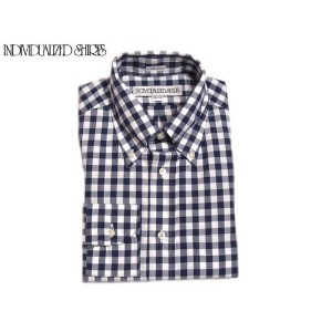 INDIVIDUALIZED SHIRTS(インディビジュアライズド シャツ)/L/S STANDARD FIT B.D. BIG GINGHAM CHECK SHIRTS/navy