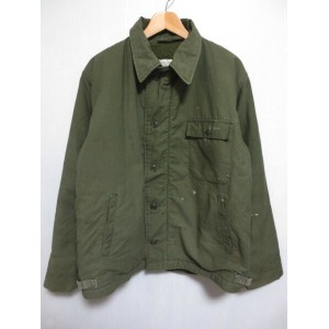 【中古】85's U.S.NAVY A-2 DECK JACKET デッキジャケット オリーブ【サイズ:LARGE(42-44)】【DAL-100-85-C-5607】【JACKET, COLD...