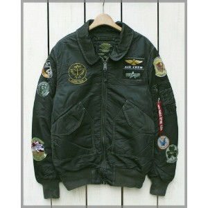 ALPHA INDUSTRIES Cwu Pilot X Flight Jacket / military Sage Black / patch アルファ インダストリーズ フライト ジャケット /...