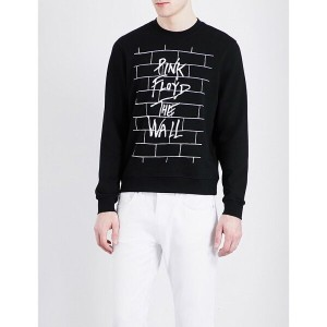 サンドロ sandro メンズ トップス トレーナー【pink floyd-print cotton-jersey sweatshirt】Black