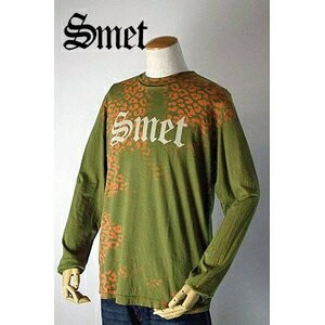 smet(スメット) long tee flagskull(men's) green M
