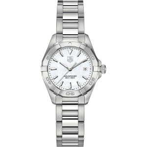 タグ ホイヤー tag heuer レディース アクセサリー 腕時計【way1412ba0920 aquaracer polished steel and mother-of-pearl watch...