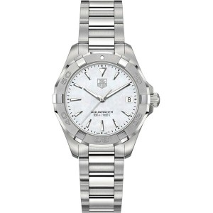 タグ ホイヤー tag heuer レディース アクセサリー 腕時計【way1312ba0915 aquaracer polished steel and mother-of-pearl watch...