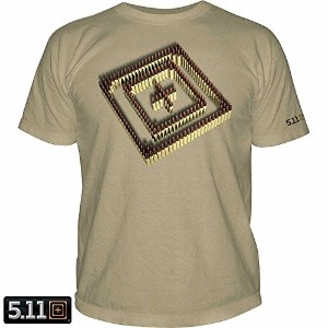 5.11 Tactical FIRING LINE Tシャツ TAN US-M/日本-Lサイズ
