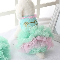 Zhhlaixing ペット用品 Puppy Dog Lovely Princess Puff Skirt Clothing Costumes size XXS/XS/S/M/L Wedding...