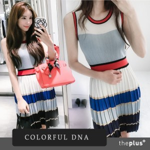 ★COLORFUL DNA★ Clara dress  /DESIGN BY KOREA /Korea famous fashion blogger Recommended Products/...