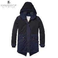 メゾンスコッチ MAISON SCOTCH 正規販売店 レディース アウターコート Winter parka with subtle color blocking, detachable hood...