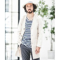 【CAMBIO(カンビオ)】Water Repellent Tencel Stretch No-collar Chester Field Coat コート