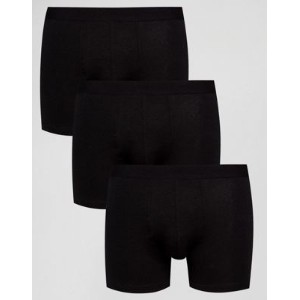 【ポイント2倍!5/29 9:59マデ】New Look Boxers In Black 3 Pack