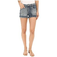 Blank NYC Patchwork High Rise Shorts ショーツ in Rough Patch