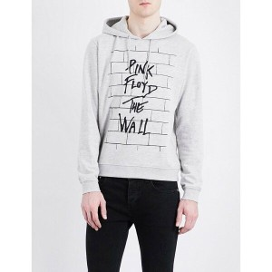 サンドロ sandro メンズ トップス パーカー【pink floyd-print cotton-blend hoody】Mocked grey