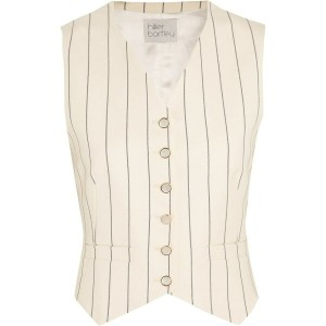 ヒリヤーバートリー Hillier Bartley レディース アウター ベスト【Pinstriped wool-twill and silk-taffeta vest】