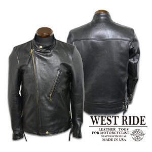 p10【WESTRIDE ウエストライド】レザージャケット/15FW OAK CANYON LEATHER JKT★送料・代引き手数料!!REAL DEAL