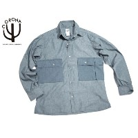 【期間限定30%OFF!】CORONA(コロナ)/#CS081 CHAMBRAY COMBAT HIKER SHIRTS/blue gradation