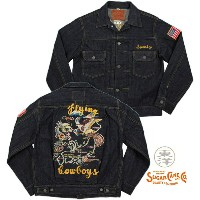 """""""KOSHO & CO.""""דSUGAR CANE""""SPECIAL EDITION/港商×シュガーケンMID 1950s STYLE EMBROIDERED DENIM JACKET""""FLYING..."""