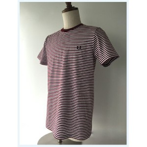 FRED PERRY(フレッドペリー)/ボーダーTシャツ(M1555) Rosewood