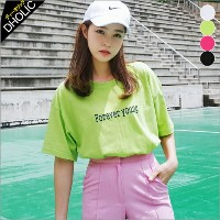 Forever youngボクシーTシャツ・全4色 b46696 レディース【tops】【トップス】