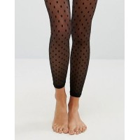 ASOS エイソス Mesh Dot Footless Tights