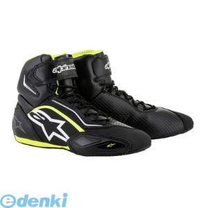 アルパインスターズ(alpinestars) [8021506607472] FASTER 2 SHOES 125 BLACK WHITE YELLOW FLUO サイズ:10.5【送料無料】
