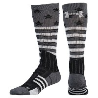 アンダーアーマー メンズ アメフト ソックス【Under Armour Unrivaled Stars and Stripes Crew Socks】Black