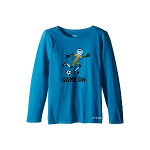 【ポイント2倍!6/27 9:59マデ】Life is good Kids Elemental Game On Soccer Long Sleeve Tee (Little Kids/Big...