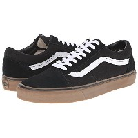 (バンズ) VANS 靴・シューズ レディーススニーカー Vans Old Skool (Gumsole) Black/Medium Gum Men's 8, Women's 9.5 (M 26,...