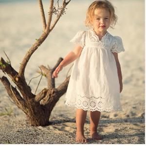 Girl Cotton Lace Dress For Kids Summer New Arrival Children Clothes White Lace Princess Korean