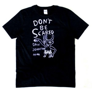 Daniel Johnston / Don't Be Scared Tee (Black)