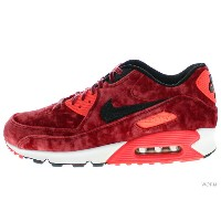 "【US9】NIKE AIR MAX 90 ANNIVERSARY ""VELVET"" 725235-600 gym red/black-infrrd-mtllc gld エアマックス 未使用品【中古】"