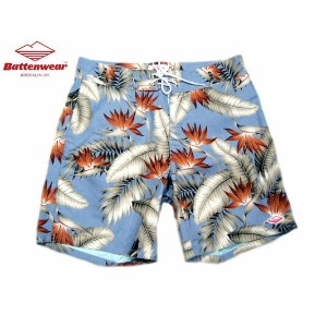 BATTEN WEAR(バテンウェア)BOARD SHORTS/blue floral