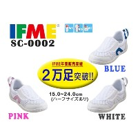 IFME イフミーSC-0002キッズシューズWHITE/PINK/RED/BLUEキッズ/ジュニア/スクールシューズ/上履き/上靴/メッシュ/インソール付き/子供靴/通気性/ホワイト/ピンク/レッド