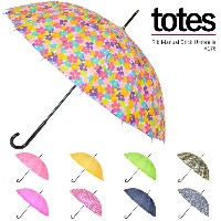 totes トーツ 16本骨長傘 Rib Manual Stick Umbrella A176
