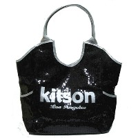 KITSON/キットソン スパンコールトートバッグ Los Angeles Sequin Tote Black/Silver 【ラッピング無料】【楽ギフ_包装】【10P11Mar16...
