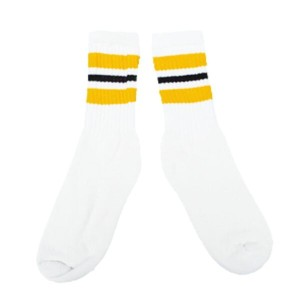LINE SOCKS ラインソックス 14INCH YELLOW-BLACK-YELLOW 3本LINE