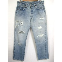 80's Levi's/リーバイス 501 66後期 デニム パンツ 色落ち Made in U.S.A 【W34 L30.5】【ジーンズ】【ヴィンテージ/vintage】【US古着】【中古】...