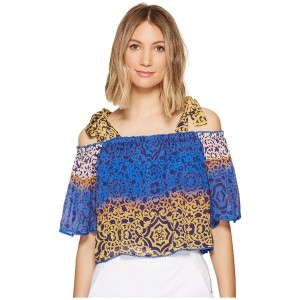 ニコルミラー レディース シャツ トップス La Plage by Nicole Miller Cleo Bow Tie Beach Top Multi