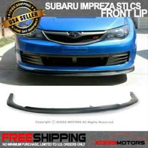 スバル インプレッサ エアロ Fit For 2008-2010 Subaru Impreza WRX STI CS Style Poly-Urethane Front Bumper Lip...