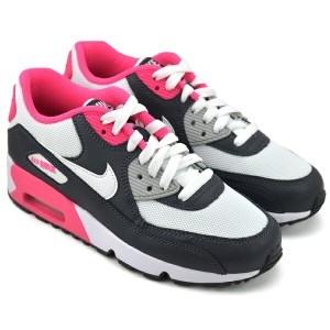 NIKE AIR MAX 90 MESH GS ANTHRACITE/WHITE-HYPER PINK ナイキ エア マックス 90 メッシュ