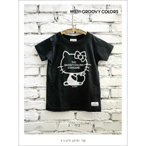 2016 A/W GROOVY COLORS グルービーカラーズ 461テンジク KITTY TEE【100cm〜140cm】【2 クロ】