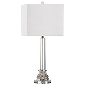 【Safavieh Lighting Collection Chena Clear and Silver 27.5-inch Table Lamp by Safavieh】 b00ov7u260