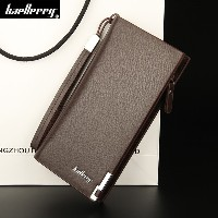 Famous Baellerry Brand Long Business Mens leather clutch wallet Man purse Causal Money bag for male...