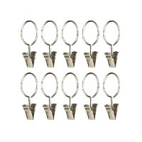 【Umbra Clip Rings for Curtain Panels Small Nickel by Umbra [並行輸入品]】 b00fb6neyc