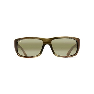 マウイジム メンズ アクセサリー メガネ・サングラス【Maui Jim World Cup Polarized Sunglasses】Matte Green Stripe Rubber / Maui...
