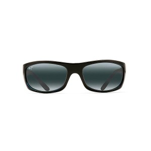 マウイジム メンズ アクセサリー メガネ・サングラス【Maui Jim Surf Rider Polarized Sunglasses】Black with Blue / Neutral Grey