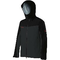 マムート メンズ アウター ジャケット【Mammut Crater Hard Shell Hooded Jacket】Graphite / Black