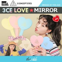 [3CE / STYLENANDA] NEW ★ LOVE COLLECTION ★HEART HAND MIRROR 3COLORS