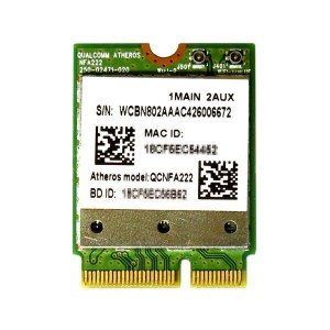 Atheros QCNFA222 AR5BWB222 デュアルバンド 802.11a/b/g/n 2.4G/5.0GHz WiFi + Bluetooth 4.0 M.2 無線LANカード