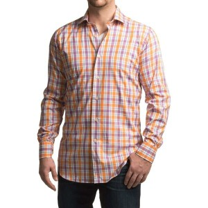ロバート タルボット Robert Talbott メンズ トップス 長袖シャツ【Crespi IV Trim Fit Plaid Sport Shirt - Long Sleeve 】Orange