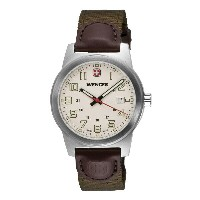 ウェンガー Wenger メンズ アクセサリー 腕時計【Classic Field Swiss Quartz Watch - Leather and Nylon Strap】Ivory/Brown